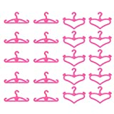Garments for Barbie Doll, 10 Bits Party Gown Outfits with 10 Pairs Doll Shoes, Girl's Git (60pcs Little Hangers)