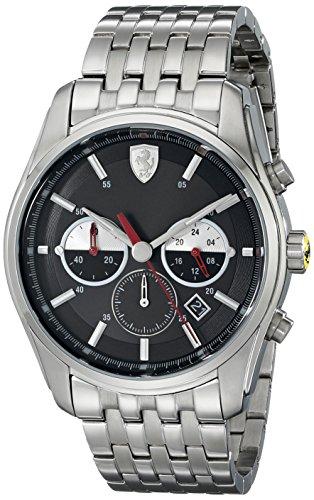 Price comparison product image Ferrari Men's 830197 GTB - C Analog Display Quartz Silver Watch
