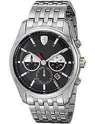 Ferrari Mens 830197 GTB - C Analog Display Quartz Silver Watch