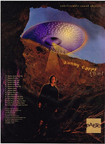 Paiste Cymbals - Danny Carey of Tool - 2001 Print Advertisement (Danny Carey Snare)