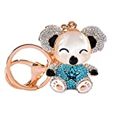 DeemoShop Crystal Key Chains Rings Holder for Women Purse Bag Buckle Pendant for Car Keyrings Keychains Accessory