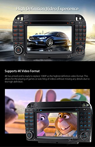 XTRONS Android 6.0 Octa-Core 64Bit 7 Inch Capacitive Touch Screen Car Stereo Radio DVD Player GPS CANbus Screen Mirroring Function OBD2 Tire Pressure Monitoring for Mercedes-Benz S-Class W220 by XTRONS (Image #5)