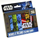 Star Wars Heros & Villains Illustrated Double Deck Playing Cards in Tin