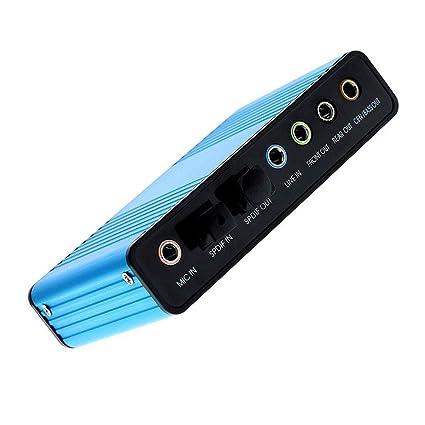 DFRgj Adaptador de audio externo Convertidor de tarjeta de ...