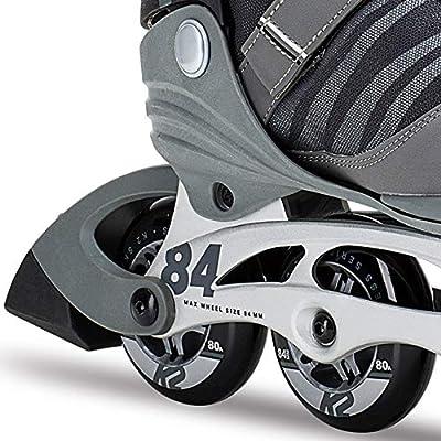 K2 Skate Men's F.I.T. 84 Pro Inline Skate, Gray Black, 9.5 : Sports & Outdoors