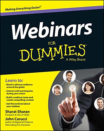 Webinars For Dummies (For Dummies (Computers)) Pdf