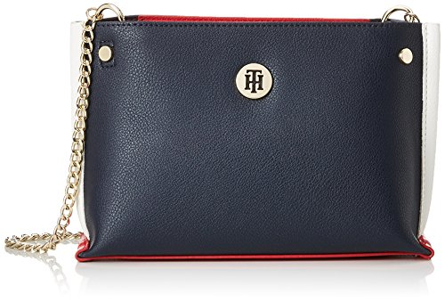 Tommy Hilfiger Tommy Chain Crossover, Borse a tracolla Donna Blu (Tommy Navy)