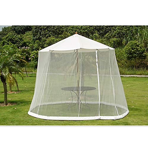 QEES Patio Umbrella Cover, Heavy Duty Mosquito Netting Screen for Patio Table Umbrella, Garden Outdoor Patio Netting Canopy Mesh JJZ181 (Netting Umbrella With)