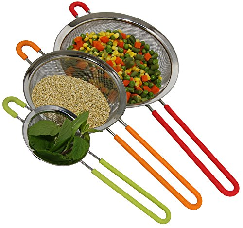 Stainless Steel Strainer Silicone Handles product image