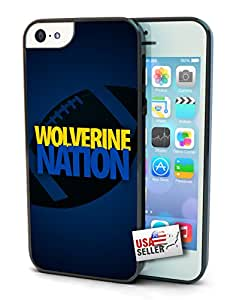 Wolverine Nation Chevron Sports Black Plastic Cover Case for iPhone 6 (4.7 inch)