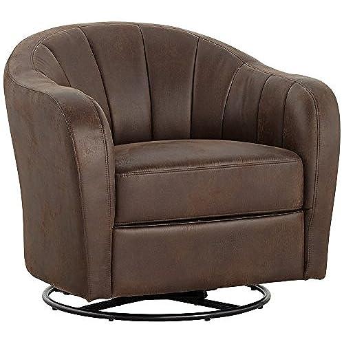 upholstered swivel living room chairs amazon com