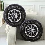 Bazaar 40cm PP Cotton 3D Car Tire Shape Cushion Car Wheel Waist Throw Pillows Home Office Sofa Decor