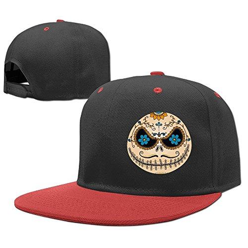 Hoicp Kid's Jack Calavera The Nightmare Before Christmas Halloween Adjustable Snapback Hip Hop Baseball Hat/Cap Red ()