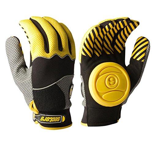 Sector 9 Apex Slide Gloves Yellow S/M (Sector Nine Skate Gloves)