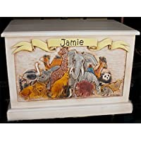 Personalized Wood Toy Box for Kids