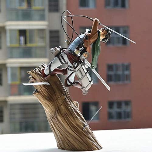 Attaque sur Titan Levi · Ackerman Stump Se Battre Modèle Animé Caractère Modèle Figurine Statue Décoration 25CM