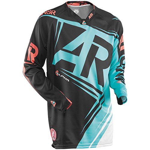 Answer Racing Alpha Men's Off-Road Motorcycle Jersey - Black/Teal / Medium