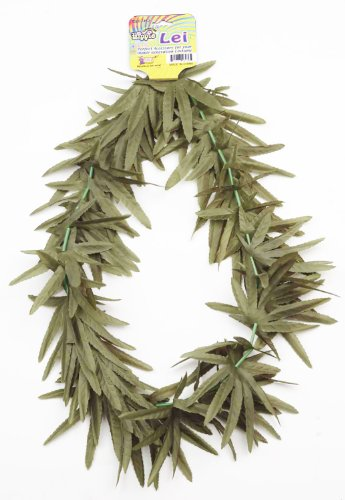 Hippie Marijuana Pot Leaf Lei