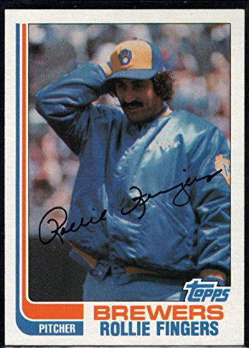 Baseball MLB 1982 Topps #585 Rollie Fingers Brewers - 1982 Brewers