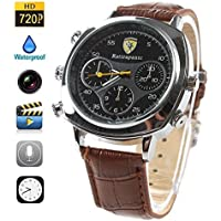 Fashionable Watch Hidden Camera 4GB Spy Micro Lens HD Camcorder Covert Wireless Recording Mini DVR Fashionable Classic Wrist Audio Video Clock PC Mac USB Connection