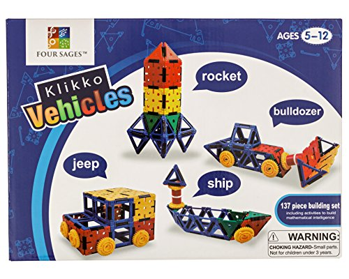 Klikko Vehicles: Educational Building Toy with Activities to Learn Math / STEM Concepts, Ages 5+