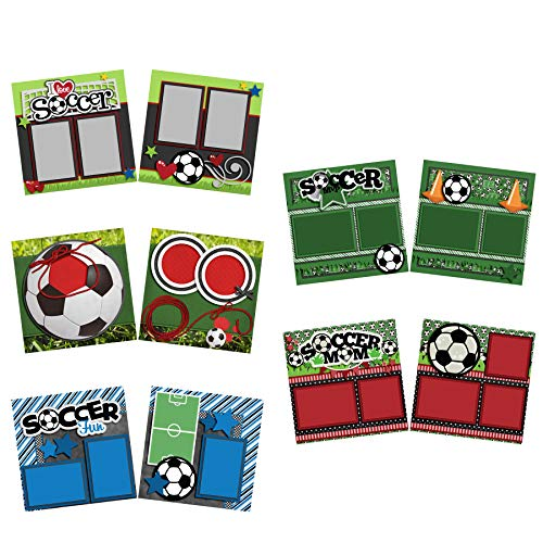 Soccer Fun - Scrapbook Set - 5 Double Page Layouts ()