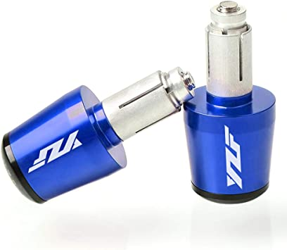 22mm 7 8 Motorrad Lenkergriffe Endkappen Aluminium Für Yamaha Yzf R1 R3 R6 R6s R25 R125 600r Blau Auto