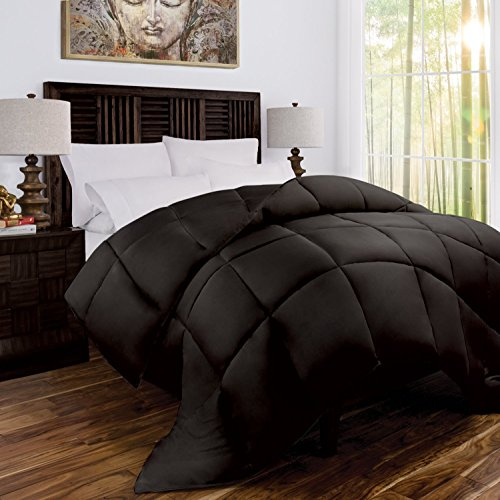 Mandarin Home Luxury 100% Rayon Derived From Bamboo Comforter with Goose Down Alternative Fill - All Season Hotel Quality Eco-Friendly Hypoallergenic Comforter - King/Cal King - Brown/Chocolate