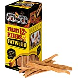 RV CAMPERS All Natural Easy Light Organic Fatwood Fire Starter Sticks – 1 Box Starts 12+ Fires