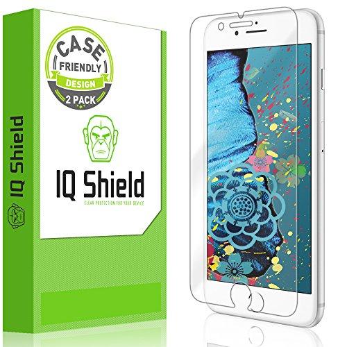 iPhone 8 Plus Screen Protector, IQ Shield LiQuidSkin Full Coverage Screen Protector for iPhone 8 Plus (Case Friendly, 2-Pack) HD Clear Anti-Bubble Film