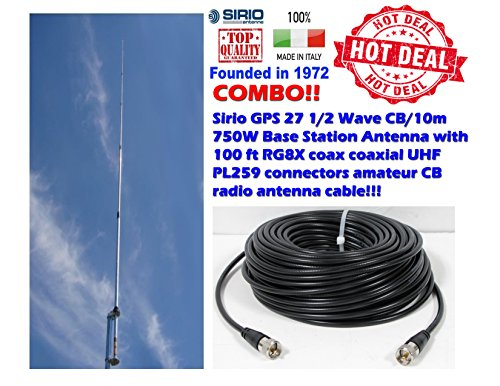 Sirio GPS 27 1/2 Wave CB/10m 750W Base Station Antenna
