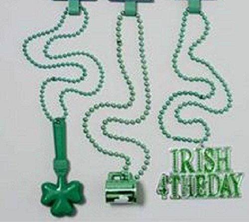 St Patrick Day Party Necklaces - 3 pack
