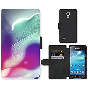 Hot Style Cell Phone Card Slot PU Leather Wallet Case // M99999427 Rainbow Colours Of Sunshine // Samsung Galaxy S4 Mini i9190