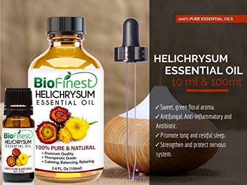 BioFinest-Helichrysum-Oil-100-Pure-Helichrysum-Essential-Oil-Skin-Care-for-Acne-Sunburn-Blemishes-Premium-Quality-Therapeutic-Grade-Best-For-Aromatherapy-FREE-E-Book-100ml