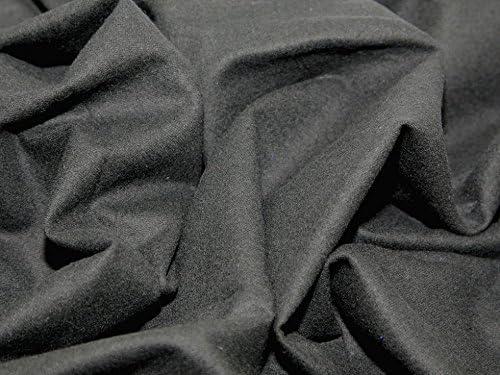 Algodón de franela Winceyette tela negro - por metro incluye + ...