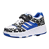 Gaorui Cool Girl Boy Women Roller Shoes Skate Sneakers Retractable Single Wheel Blue