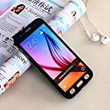 AUDOS *360 DEGREE FULL BODY PROTECTION* Front + Back Cover Case with Tempered Glass For SAMSUNG GALAXY A7 2016 (Black)