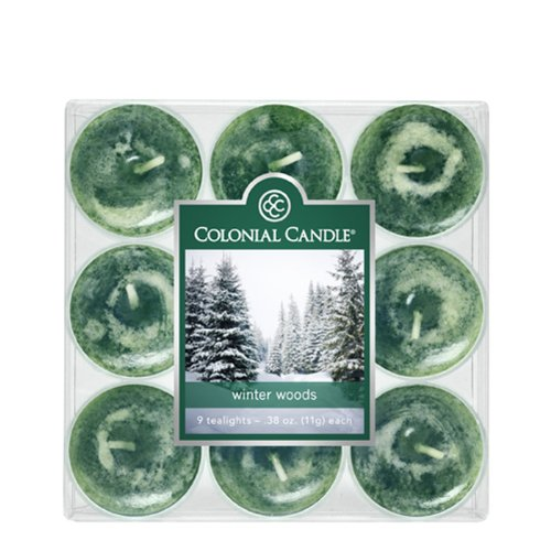 Colonial Candle Winter Woods Tealights, Set of 9