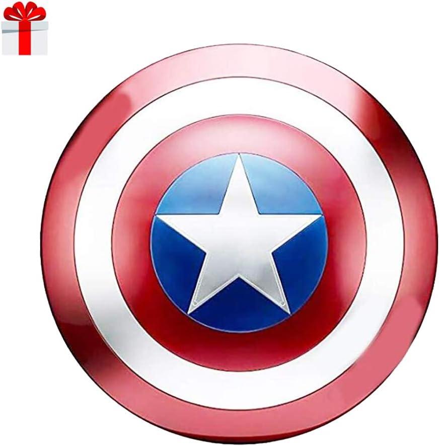 B&T Captain America Shield Full Metal Handheld Movie Edition Bar Creativo Decoración de Pared Suave Colgante Aluminio América Accesorios para Hombre Cosplay Escudo 1: 1
