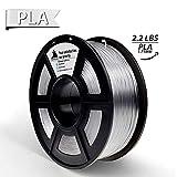 3D Hero PLA 3D Printer Filament Clear,1.75 mm,1 kg Spool(2.2lbs), Dimensional Accuracy +/- 0.02 mm(Transparent)