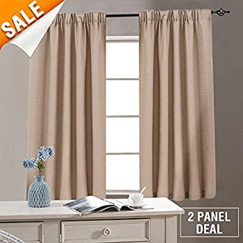 Amazon Com Lazzzy White Curtains For Small Window 45