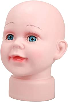 Cute Children Manikin Head Hats Wig Mould Model Mannequins Boys Manikin Head Canvas Extension Clamp 100/% Face Synthetic Eyelash Glass Making Cosmetology Manikin Braiding Extensions Pins