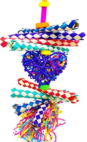Bonka-Bird-Toys-1730-Foraging-Heart-Bird-Toy-parrot-cage-toys-cockatiel-african-grey-conure