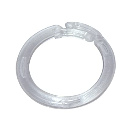 Amazon.com: Clear Plastic Split Rings for Shades & Valances, Large ...
