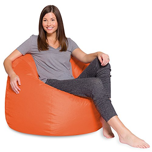 - Big Comfy Bean Bag Chair: Posh Large Beanbag Chairs with Removable Cover for Kids, Teens and Adults - Polyester Cloth Puff Sack Lounger Furniture for All Ages - 35 Inch - Solid Orange