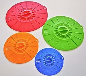Silicone Suction Lids Premium (4 Sizes) Food Saver Covers For Bowls, Pots, Pans, Kitchen Accessories