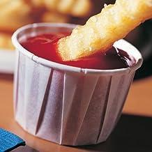 Solo Paper Souffle Cups 2oz - Case of 5000 | Waxed Paper Ramekins, Portion Cups, Sauce Pots, Condiment Pots
