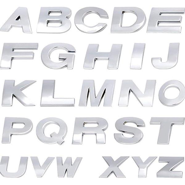 Fully 25cm098 Diy 3d Metall Aufkleber Emblem Buchstaben