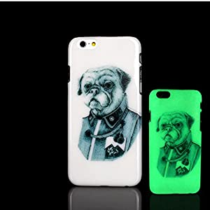 iPhone 7 Case, Glow in the Dark Pug Dog Pattern TomCase Fluorescent Back Cover for iPhone 7 Case 4.7 inch, P6