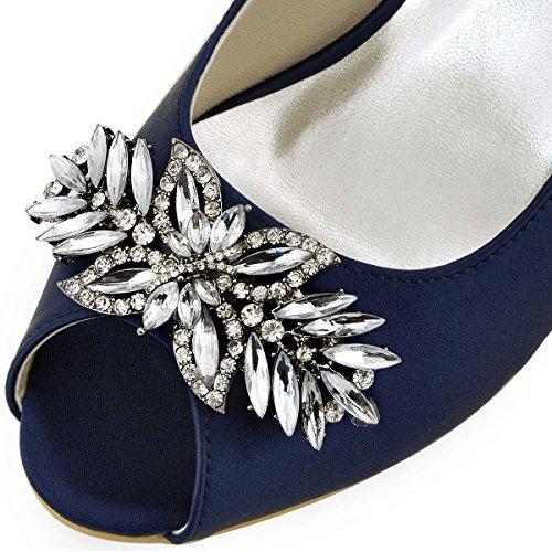 Marina Raso Ballo Gioielli Elegantpark HP1540 da Partito Scarpe sposa toe Blu da Tacco Peep Sera Alto qHFZ5